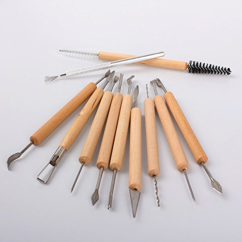 Carver Wax - Generic Wax Carving Carvers Polymer Clay Pottery Sculpture Craft DIY Tools (Pack of 11)