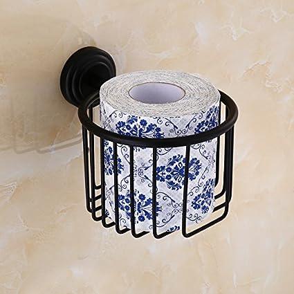 ZHFC Forma del Cobre Toalla de Papel Negro WC WC Antique Hotel Toalla de Papel Papel