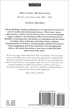 salman rushdie fabricated homelands essays and criticisms