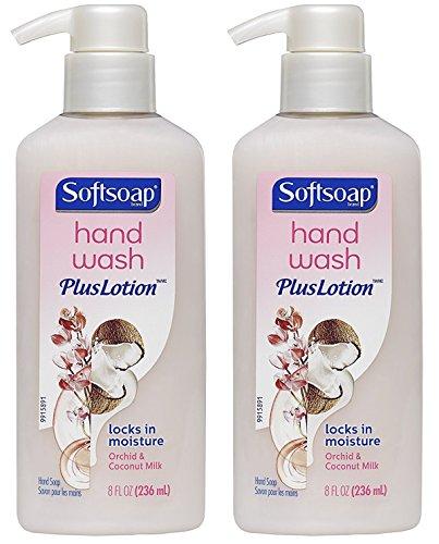 Softsoap Foam Soap Refill (Softsoap Hand Wash Plus Lotion - Orchid & Coconut Milk - Net Wt. 8 FL OZ (236 mL) Per Bottle - Pack of 2 Bottles)
