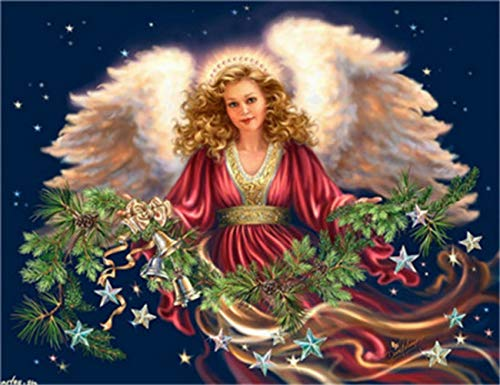 Angel girl3 DIY 5D Diamond Painting Full Drilling Embroidery Rhinestone Paste DIY Painting Cross Stitch Household A…