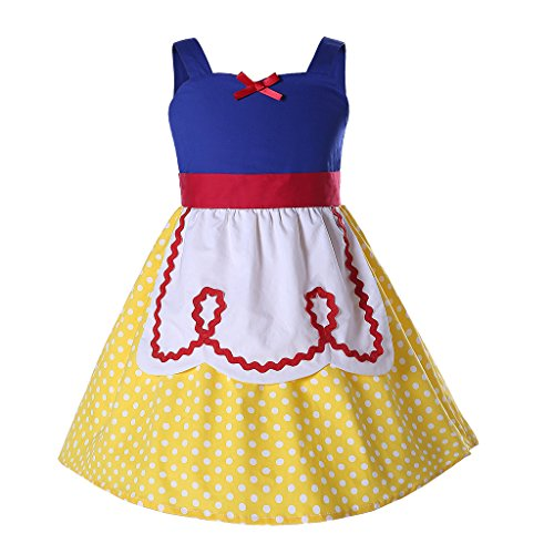 Pettigirl Girls' Halloween Party Dress with Apron 3years