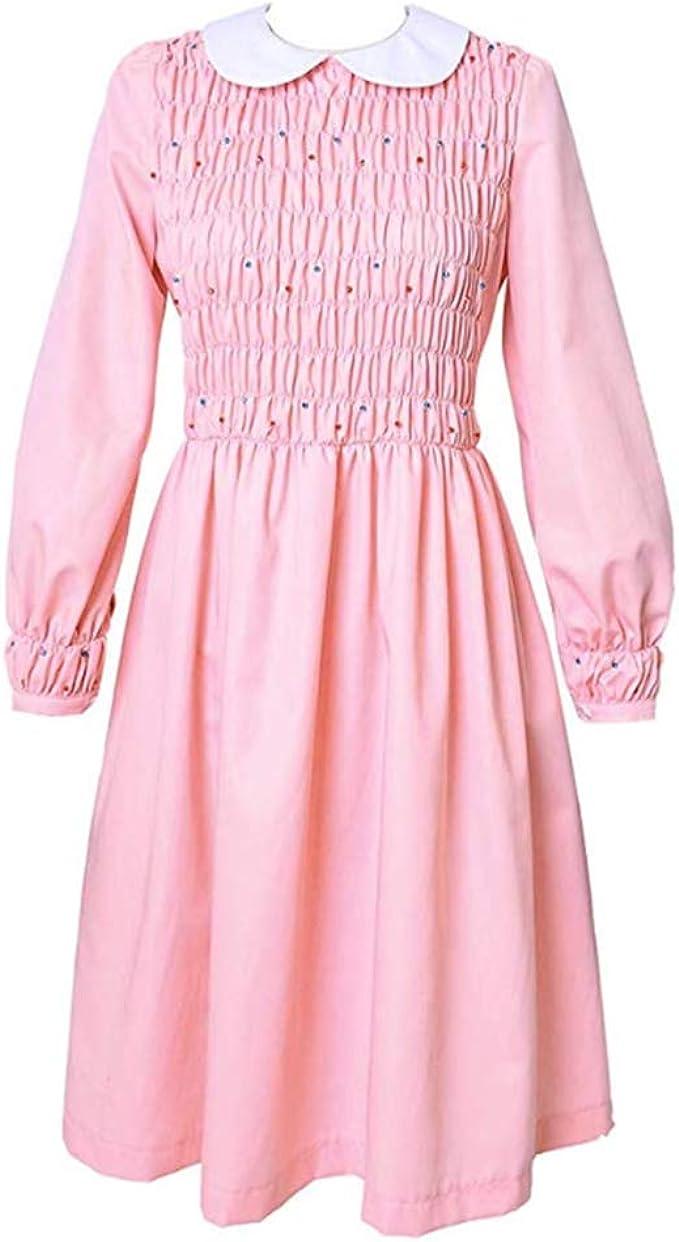Stranger 3 Eleven Pink Casual Dress, Halloween Cosplay Fancy ...