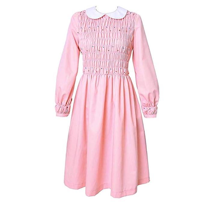 Pink Eleven 11 Vestido Rosa de Manga Corta para Mujer Traje ...