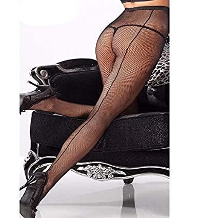 Lannmart Women Tights Plus Size Pantyhose Back Seam Sexy Pantyhose Black Lace Tights Fishnet Hosiery Floral