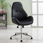 1PerfectChoice Osco Office Executive Computer Task Chair Body Contour Padded PU Black High Back