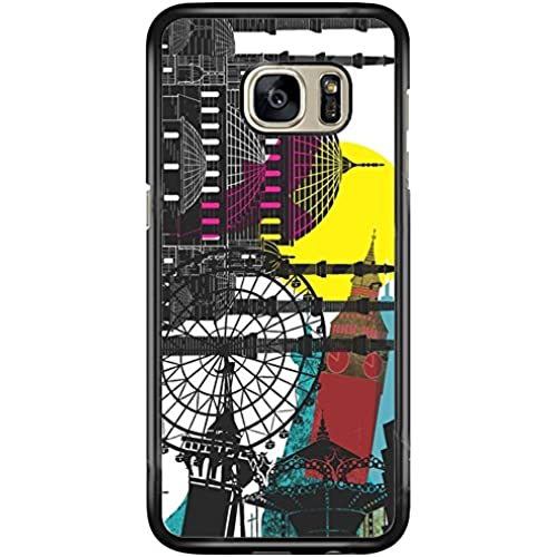SEENPIN Galaxy S7 Case Edge Playground Art Painting [Shock Absorption] Case Cover for Samsung Galaxy S7 Edge Sales