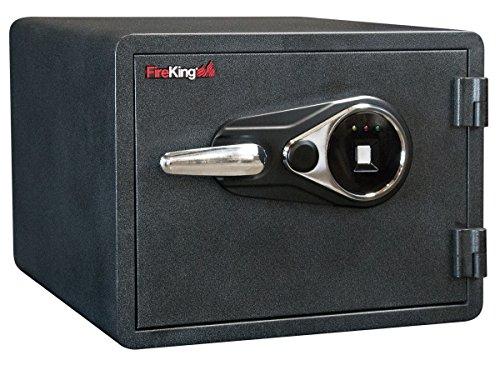 (FireKing Business Class 1-Hour Rated Fire Safe Fingerprint Scanner Lock, KY0913-1GRFL)