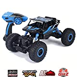 SZJJX RC Cars Rock Off-Road Vehicle 2.4Ghz 4WD High Speed 1: 18 Racing Cars Remote Radio Control Car Electric Rock Crawler Buggy Hobby Fast Race Crawler Truck-Blue