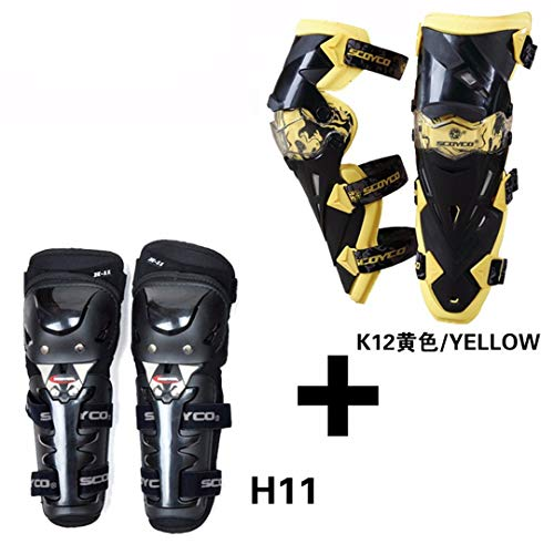 - Motorcycle Knee Elbow Pads Motor Bike Racing Cycling Knee Elbow Protector Motocross Proctective Guards Yellow One Size for All