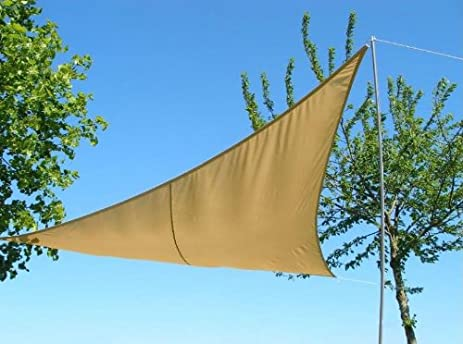 kookaburra waterproof sun sail shade u2013 sand 9ft 10u0026quot x 6ft 7u0026quot rectangular