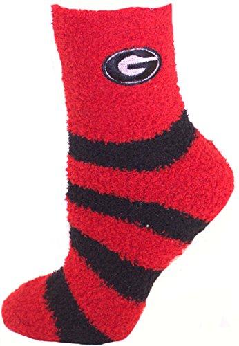 Official Nba White Tube Socks (Georgia Bulldogs Striped Fuzzy Lounge Socks)