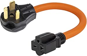 1.5FT Nema 6-50P to 6-15R/6-20R Welder Power Adapter Cord, 6-50P 50-Amp to 6-20R 20A T-Blade Adapter,6-50P to 6-20R