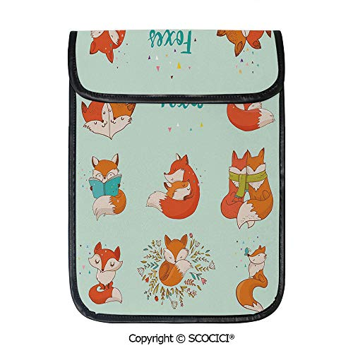 - SCOCICI Shockproof Tablet Sleeve Compatible 12.9 Inch iPad Pro Lovely Fox Characters Sleeping Reading Romantic Couple Nature Collection Kids Comic Decorative Tablet Protective Bag