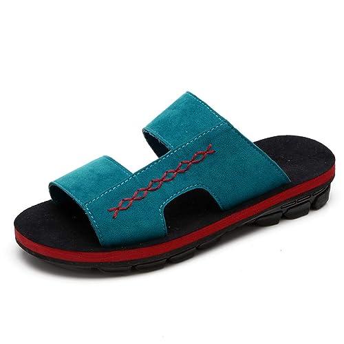 Zapatillas Verdes de Verano Zapatos de Playa de Verano al Aire Libre de los Hombres cómodos (Color : Green, Size : 41): Amazon.es: Zapatos y complementos