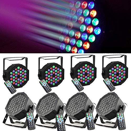 LED Stage Lights 8PCS 80W AC 110V 36 LED DMX512 RGB Wall Wash Light Disco Party Stage Lighting for DJ Club Party Bar Karaoke Wedding Show Live Concert Halloween Christmas Lighting]()