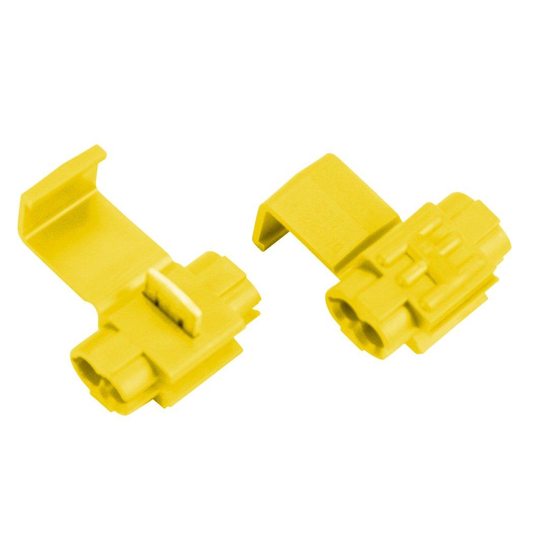 Absolute USA SPL1210Y 12/10 Gauge Scotch Lock Quick Slide Auto-TAP Connectors