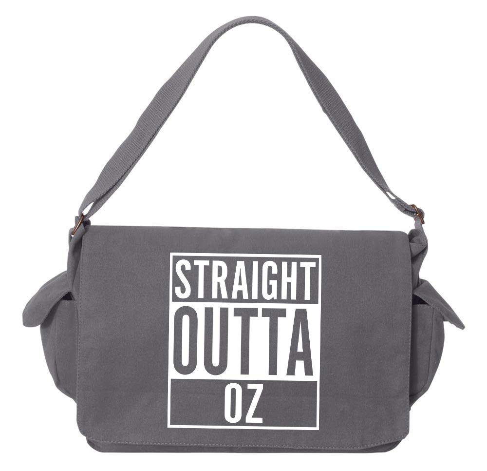Tenacitee Straight Outta Oz Grey Brushed Canvas Messenger Bag