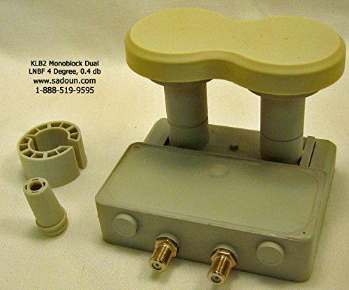 Sadoun KLB2 Monoblock Duo LNBF 4 Degree Dual Output Linear KU 0.4 dB - 4 Output Lnb