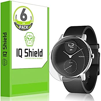 IQ Shield Screen Protector Compatible with Nokia Steel HR (36mm)(6-Pack) Anti-Bubble Clear Film