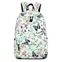 VOLINER Cute School Laptop Backpack Women Travel Daypack Durable Bookbag