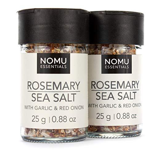 NOMU Essentials Rosemary, Garlic & Onion Salt Blend (1.76 oz   2-pack)   MSG & Gluten Free, Non-GMO & Non-Irradiated