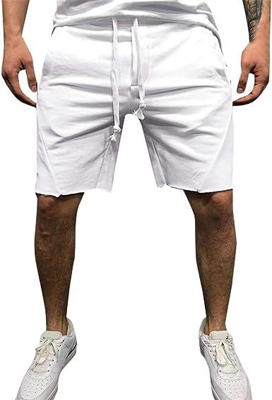 Verano nuevos Pantalones Cortos de algodón Suelto para Hombres ...