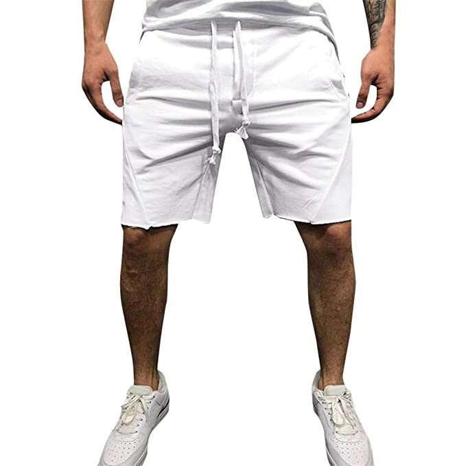 Hombres Pantalones Cortos Verano Deporte Pantalón Chandal de Playa ...
