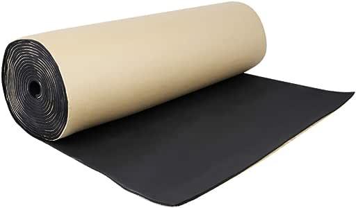 uxcell 315mil 10.76sqft/8mm 40 X40 Inch Car Auto Cell Bumper Floor Sound Insulation Noise Deadener Dampening Mat Acoustic Barrier