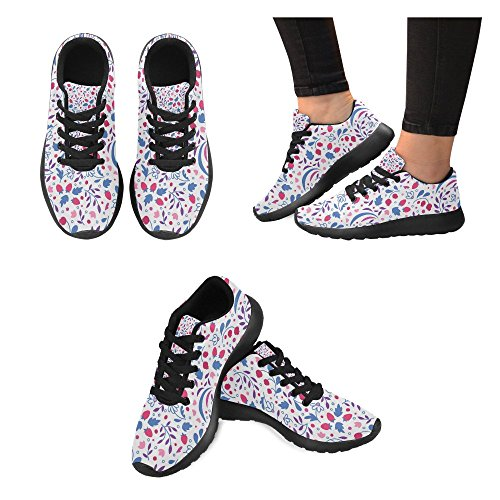 Lightweight Sports Athletic Womens Vintage Walking Jogging InterestPrint Sneaker 4 Floral Shoes Multi Running Leaves pwH6xFWqR
