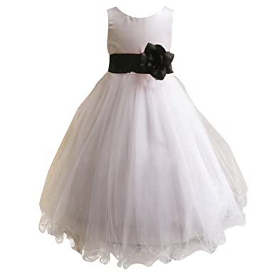 9dc27cf78a88 LPATTERN Flower Girls Dresses Tulle Wedding Pageant Bridesmaid ...