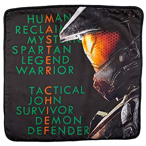 Jay Franco Halo Spartan John Decorative Pillow Cover - Kids Super Soft 1-Pack Throw Pillow Cover - Measures 15 Inches x 15 Inches