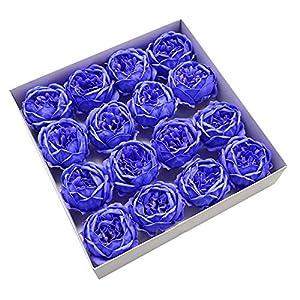 9Cm Peony Artificial Flower Head Soap Flower Head Love Gift DIY Wedding Home Decoration,Blue 66