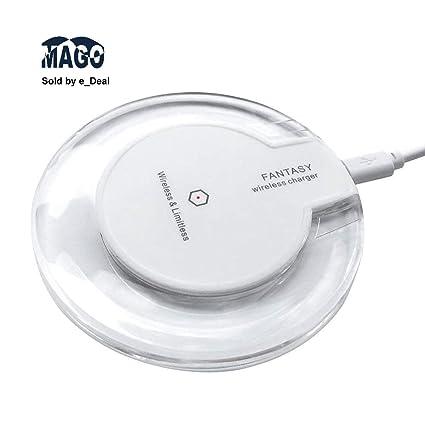 Amazon.com: Cargador inalámbrico MAGO Qi estándar ultrafino ...