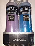 Brita Sport Water Filter Bottle, Twin Pack, Navy Blue and Violet, 20 Ounce