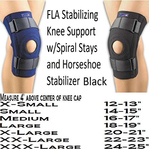 SAFE-T-SPORT Neoprene Patella Stabilizing Knee Support w/ Removable Horseshoe XSmall 12 - 13