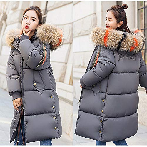 Gray Womens Faux Outcoat Warm Overcoat Ladies Jacket Warm Fur Long Fashion Casual Winter 7xwnqpd