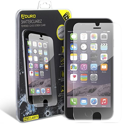 Wallace Glass Print - iPhone 8 Plus/iPhone 7 Plus Tempered Glass Screen Protector - Aduro Shatterguardz Anti-Scratch, Anti-Fingerprint Coating, Ultra-Sensitive Touch Tech for Apple iPhone 8/7 Plus