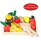holz, gemüse zu schneiden lebensmittel lebensmittel stellen spielen 13 pcs küche lernen, essen
