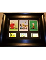 PEANUTS Snoopy Framed Trio 3 Movie Film Cell Display Collectible Memorabilia Complements Poster Book Theater