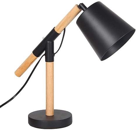 Lámpara de Mesa Negra Vintage Ajustable, E27 Lámpara de Escritorio ...
