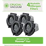 4 Dust Cup Filters for Hoover Flair S2200, S2220, S2201 Series Stick Vacuums; Compare to Hoover Part No. 59136055; Designed & Engineered by Think Crucial
