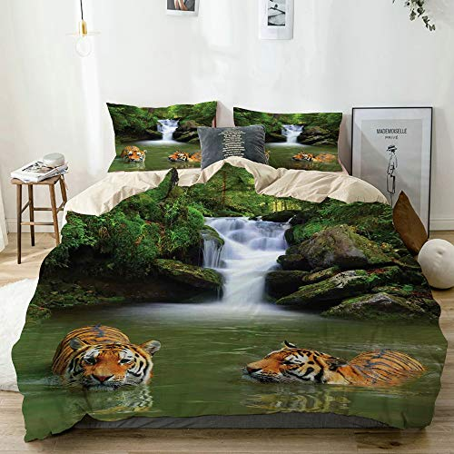 realistic tigers bedding set