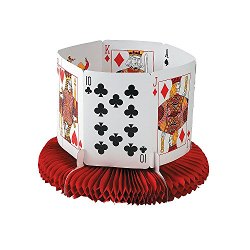 Casino Party Decoration Playing Card Table (Las Vegas Table Centerpieces)