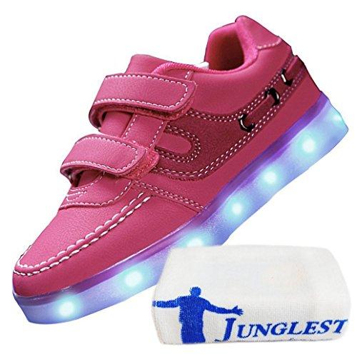 (Present:kleines Handtuch)JUNGLEST® 7 Farbe USB Aufladen LED Leuchtend Sport Schuhe Sportschuhe Sneaker Turnschuhe für Unisex-Erwa c16