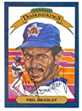 Phil Bradley autographed Diamond King Donruss Baseball Card 1986 Seattle Mariner Ball Point Pen