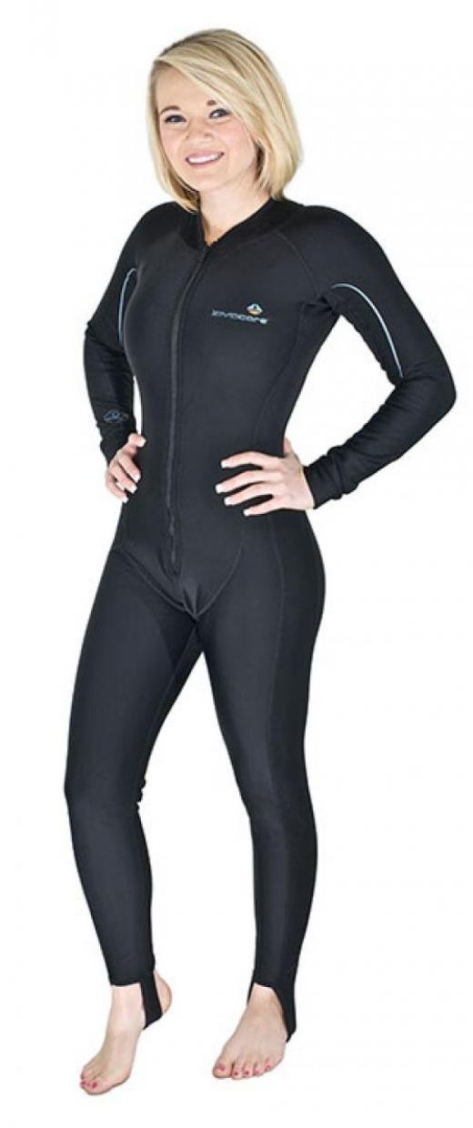 Amazon.com : LavaCore Women's Front Zip Warm Water Full Length Jumpsuit :  Sports & Outdoors