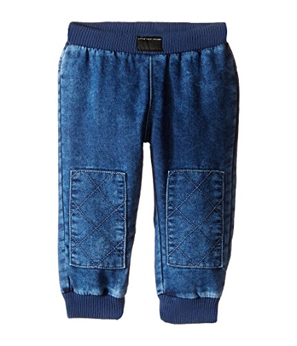 Price comparison product image Little Marc Jacobs Baby Boy's Denim Effect Trousers with Knees Patches (Infant) Denim Blue Jeans 18 Months