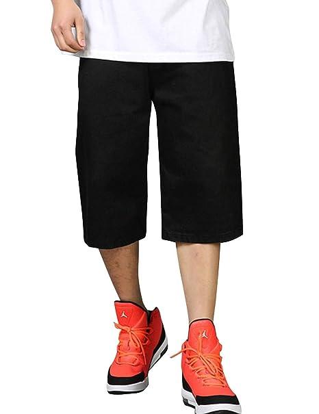 Amazon.com: SUNFURA Pantalones vaqueros grandes y altos para ...