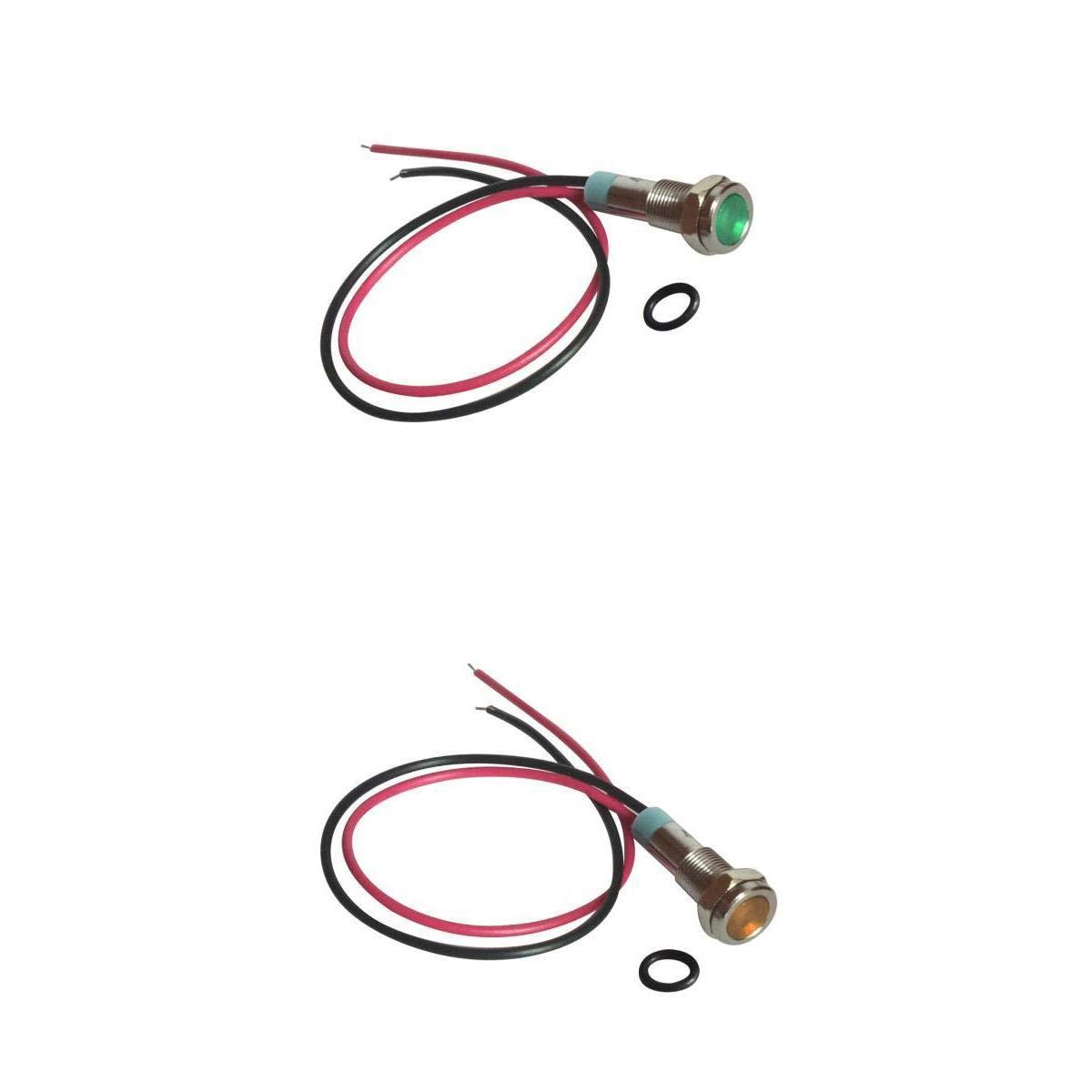 Almencla 2 Pièces Indicateur de Métal à LED Antipoussière Lampe de Signalisation